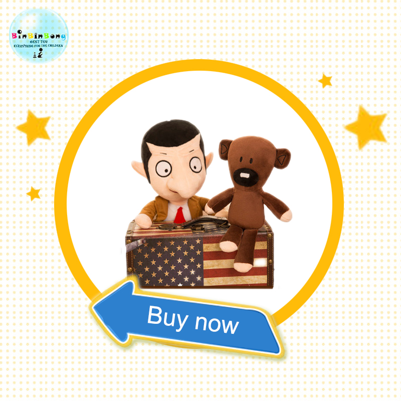 2PCS Hot 30cm soft plush doll creative <font><b>Mr</b></font> <font><b>Bean</b></font> teddy bear cute <font><b>cartoon</b></font> plush doll funny novelty doll baby toys for kids image