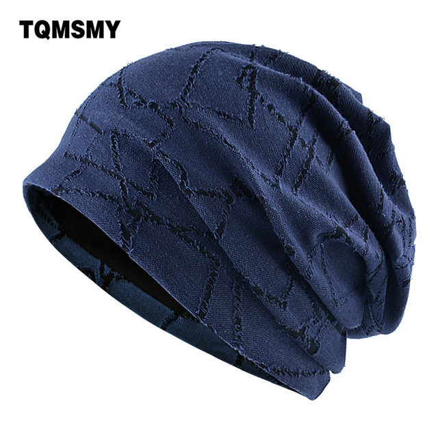 TQMSMY מקרית עצם אביב כותנה כובעים לנשים רך ודק skullies שכבה כפולה גברים בימס טורבן כובע gorros
