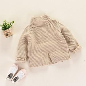 Image 4 - 秋冬子供のセーター厚手のニットプルオーバー上着タートルネック子供の女の子 RT130