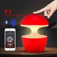3D LED Lamp USB Bluetooth Amplifier Speaker Mini Portable Subwoofer Touch Control Led Colorful Desk Night Lights FM Radio U Disk
