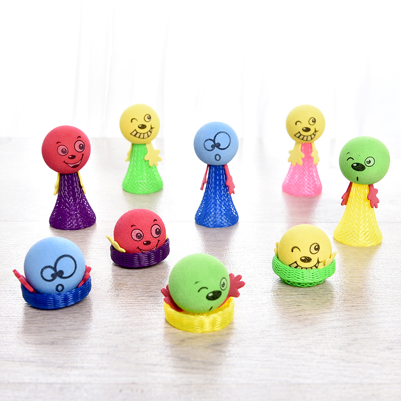 10 PCS Funny Fly Jump Elf Children Strange Toy Bounce Kids Babies Educational Learning Gifts Wholesale