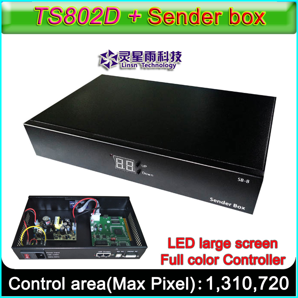 LINSN Full-color LED controller,TS802D control card, TS852D external sender box, Original authentic, refused to imitation brand