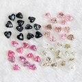 10 UNIDS/LOTE 2016 Nuevas Conchas Rotas Multicolor Diseño Del Corazón Encantos de Uñas Belleza Mujeres Resina Nail Art Decoraciones Supply WY457-WY460