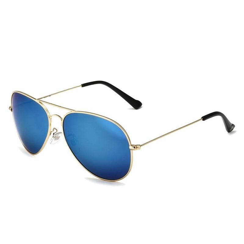 Солнцезащитные очки унисекс VEITHDIA, брендовые классические дизайнерские очки с зеркальными поляризационными стеклами, степень защиты UV400, для мужчин и женщин - Цвет линз: goldlightblue