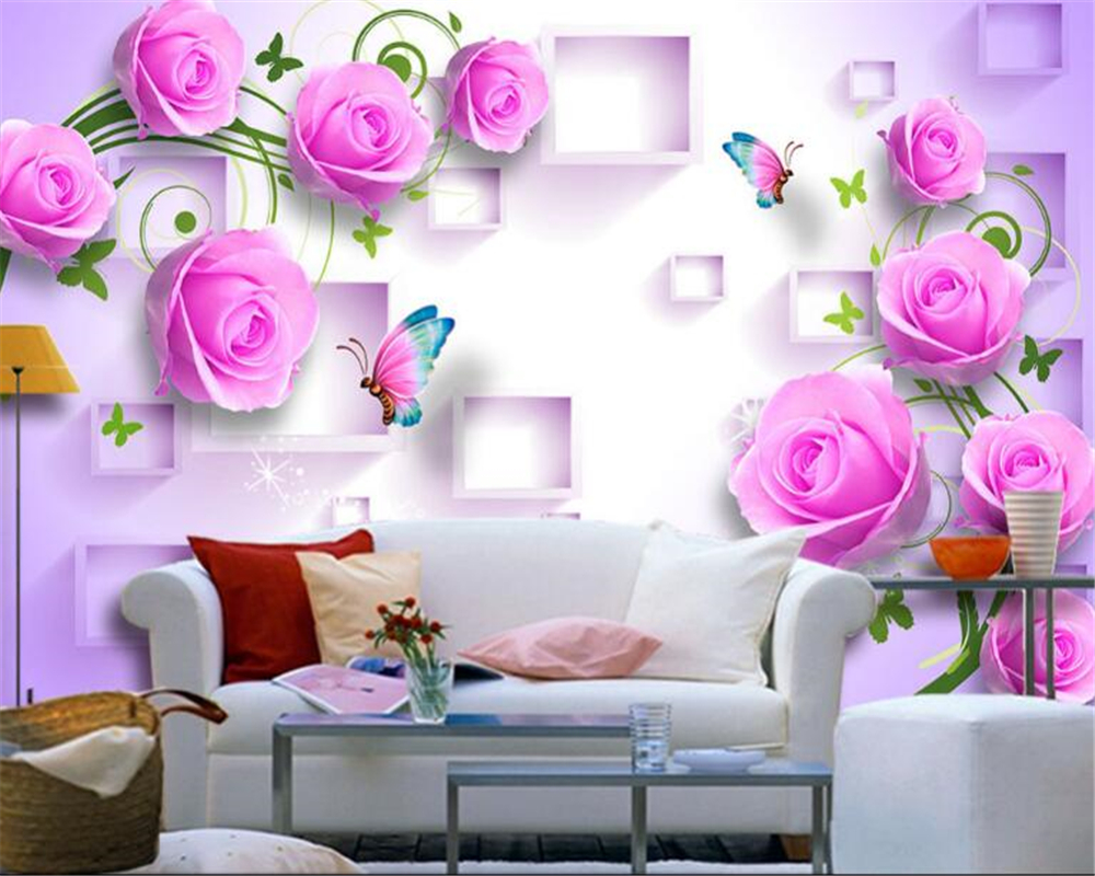 Fantastic Wallpaper High Quality Aesthetic - beibehang-Fashion-high-quality-wallpaper-pink-rose-three-dimensional-box-fashion-aesthetic-3D-background-wall-papel  Pic_115418.jpg