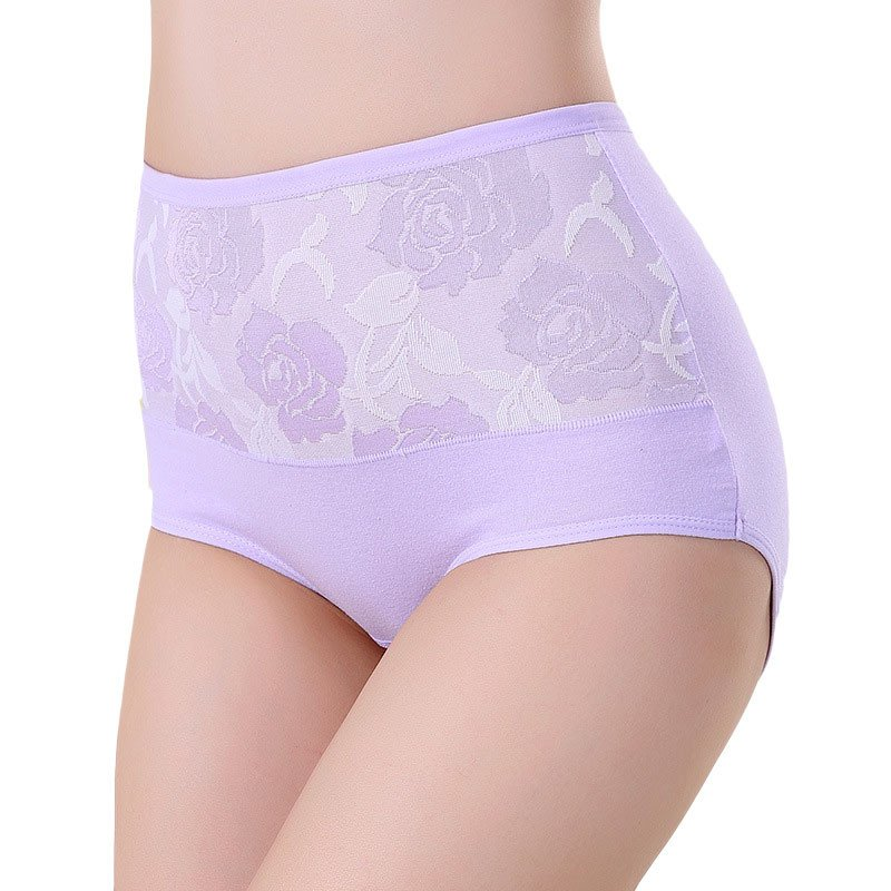 Women Lace Panties High Waist Underwear Girls Panty Fashion Designer Abdomen Control Briefs Women's Panties