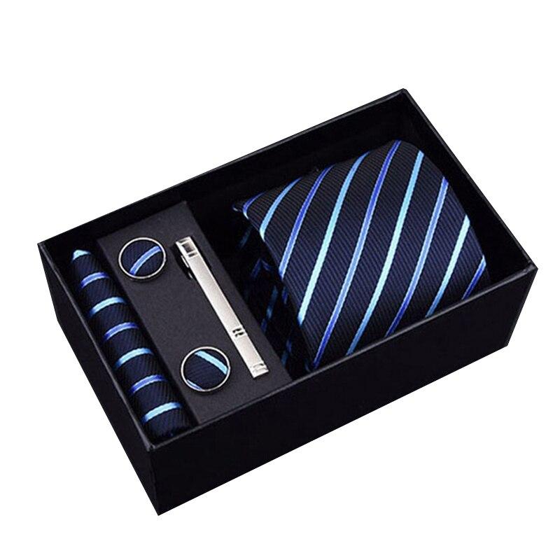 Men 39 s Wide Polyester silk Italian Ties Cuff link Hankie Clips Custom Checked Gravatas Necktie Sets Ties for Formal Business in Men 39 s Ties amp Handkerchiefs from Apparel Accessories