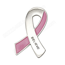 Breast Cancer Awareness Believe Pink Ribbon Lapel Pins