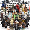 Star Wars 7 Action Figures The Force Awakens Clone Storm Trooper Yoda Darth Vader Building Blocks