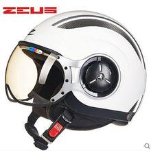 ZEUS 218C open face 3/4 motorcycle motorbike Casco Capacete helmet, Free shipping, Jet Vintage retro helmet, Momo Style,  ECE