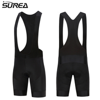 2017 SUREA Black Summer 9D GEL Pad Quick Dry Cool Cycling Bib Shorts Men Ciclismo Ropa
