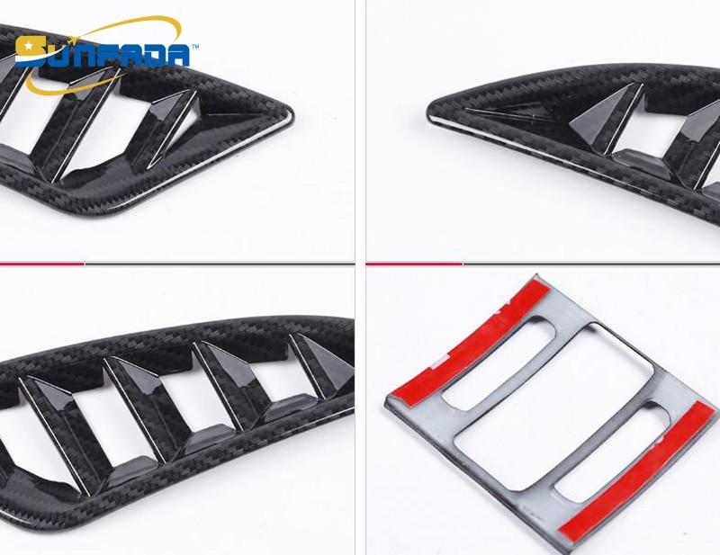 Sunfada Chrome/углерода Волокно вентиляционное отверстие розетки подкладке Рамки Обложка отделка украшения для Mazda 6 Atenza 2013- стайлинга автомобилей - Цвет: Carbon Fiber Texture