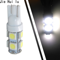 100Pcs 24V T10 LED 9SMD 5050 9 Smd 9Led Car 194 168 192 W5W Light Automobile Bulbs Lamp Wedge Interior Light DC 12V 24V