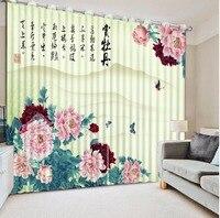 3D Curtains Flowers butterfly 3D Photo Curtain Custom Blackout Curtains