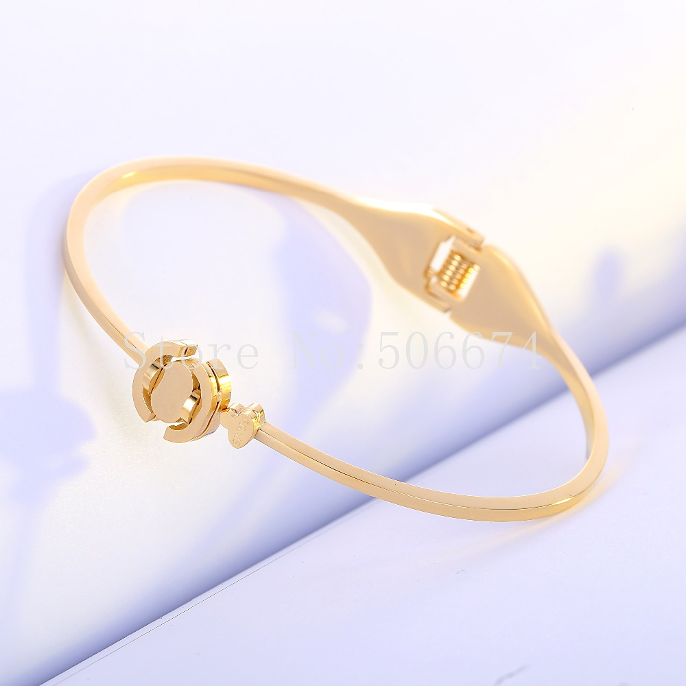 free registered Top Quality P brand Fashion Jewelry Cuff Carter Bracelets Bangles 316L Stainless Steel Bracelets For Women