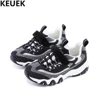 NEW Spring Children Crystal Sneakers Girls Mesh Rhinestone Casual Sports Shoes Kids Breathable Baby Toddler Student