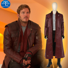 MANLUYUNXIAO Mens Full Set Guardians of the Galaxy 2 Costume Star-Lord Peter Jason Quill Cosplay For Men Custom Made