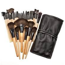 32pc durável pincéis de maquiagem conjunto corretivo líquido blush pó fundação sombra olho definer eye liner escova cosméticos ferramenta