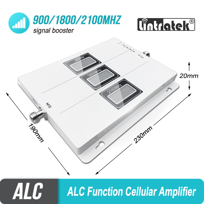 ALC Cellular Signal Booster Tri Band GSM Signal Repeater 65dB Gain 3G LTE 900 1800 2100 Cell Phone 4G Amplifier Repetidor SetS44-in Signal Boosters from Cellphones & Telecommunications    2