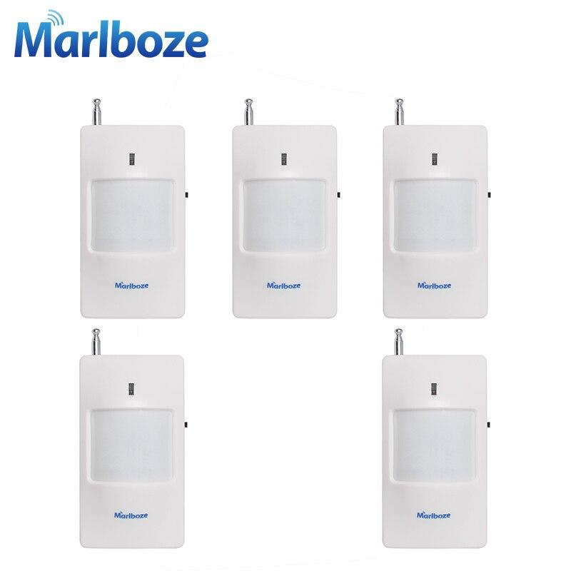 imágenes para Marlboze 5 unids/lote 433 MHz Sensor de Movimiento PIR detector Infrarrojo Inalámbrico con Batería de Seguridad para el Hogar Sistema de Alarma