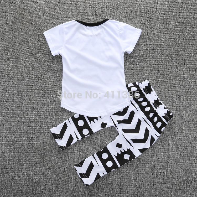 ST189 2017 Nowa dziewczyna przyjazdu i chłopców ubrania ustawić długi rękaw + Spodnie sowa wzór zestaw noworodka ubrania dla dzieci garnitur dzieci odzież 48