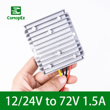 DC DC Converter 12-24V to 72V 1.5A 108W Voltage Converters Step UP Boost Module Power Supply for Cars Radio Solar Panel lm2577 dc 3 5 18v to dc 4 0 24v voltage step up boost module red