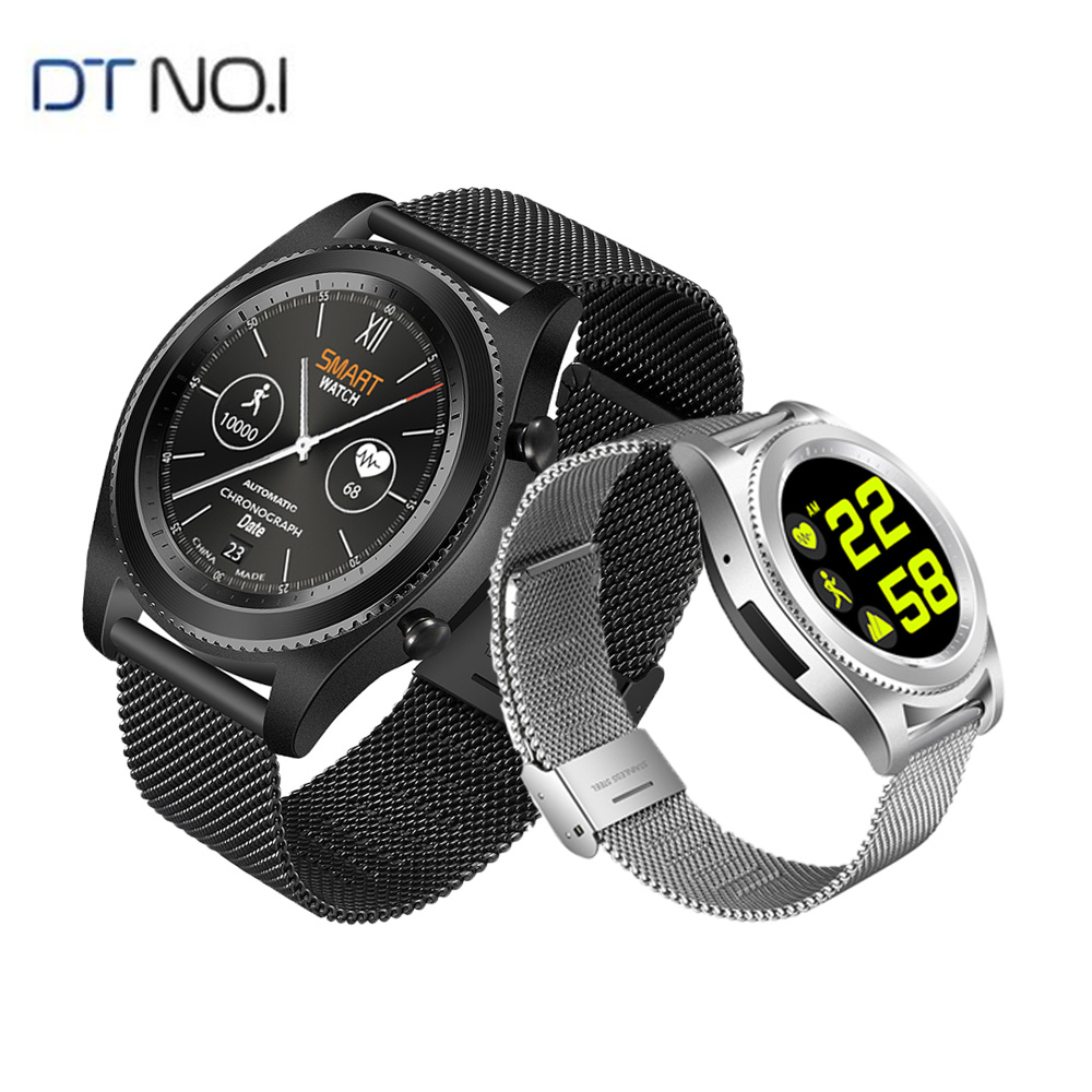 DTNO.1 S9 GPS MTK2502C Touch Smartwatch Heart Rate Monitor Bluetooth 4.0 Smart watch Bracelet Wearable Devices for iOS Android