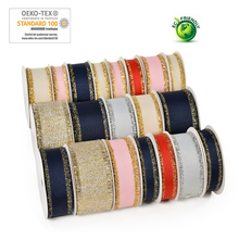 Gold Purl Grosgrain Fringed Edge Ribbon 5/8 16 MM  1 25 38 1-1/2 Wedding DIY Crafts Tape Party Decoration