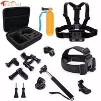 10 In 1 AMKOV AMK7000S Accessories Head Mount Strap Selfie Monopod Camera Case For Amkov Soocoo
