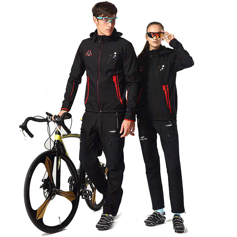 Cycling Jersey Set Winter Men Women Thermal Fleece Waterproof Bike Jacket Pants Suit Cycling Clothing MTB Wear Roupa Ciclismo