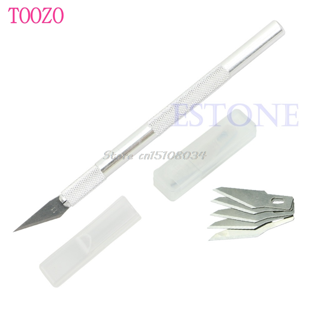 چاقوی کاردستی فلزی عملی + 5 حکاکی ابزار - ابزار دست