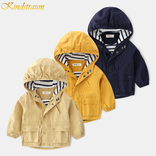 2019 Autumn Kids Jacket/coat Hoodies Childrens Windbreaker for boy Toddlers Solid Outerwear Baby Jacket For Boy/girl DC165