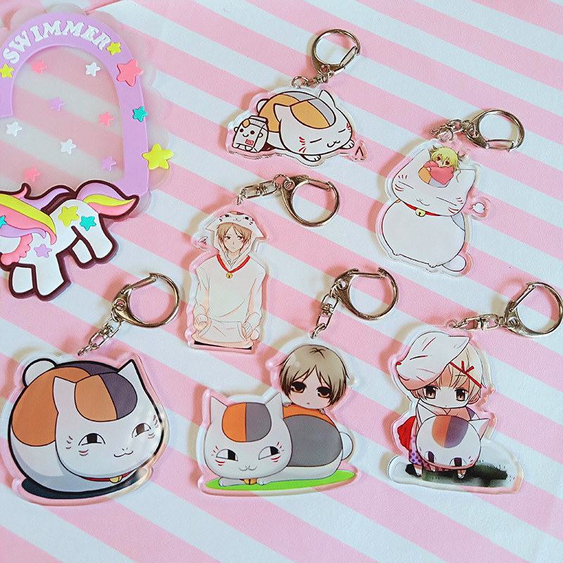1pcs 6cm Anime Keychain Natsume Yuujinchou  Keychain Keyrings