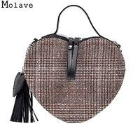 MOLAVE 2017 Marke Neue Kreative Quaste Wolle Herzform Messenger Einkaufs thiết kế cổ điển-handtaschen hoher qualitat ví nov7