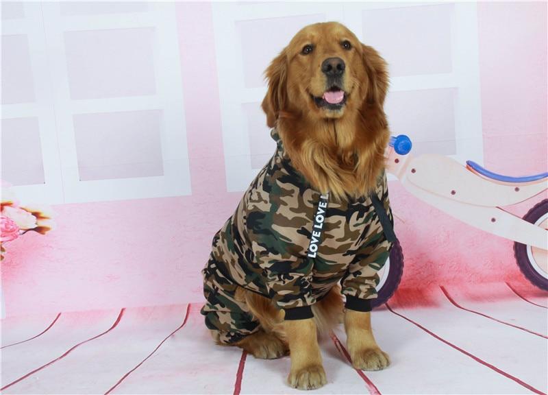 Camouflage dog jacket big dog clothes (9)