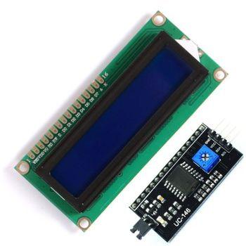 цена на 1PCS 1602 16x2 HD44780 Character LCD + IIC/I2C Serial Interface Adapter Module