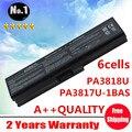 6 células bateria para TOSHIBA Satellite A660 A660D A665 C660 C660D L750D SERIES PA3818u PA3819u shpping