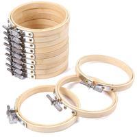 10 Psc 10 см регулируемый бамбуковый круг крестиком кольцо Круглый Деревянный пяльца для вышивания набор