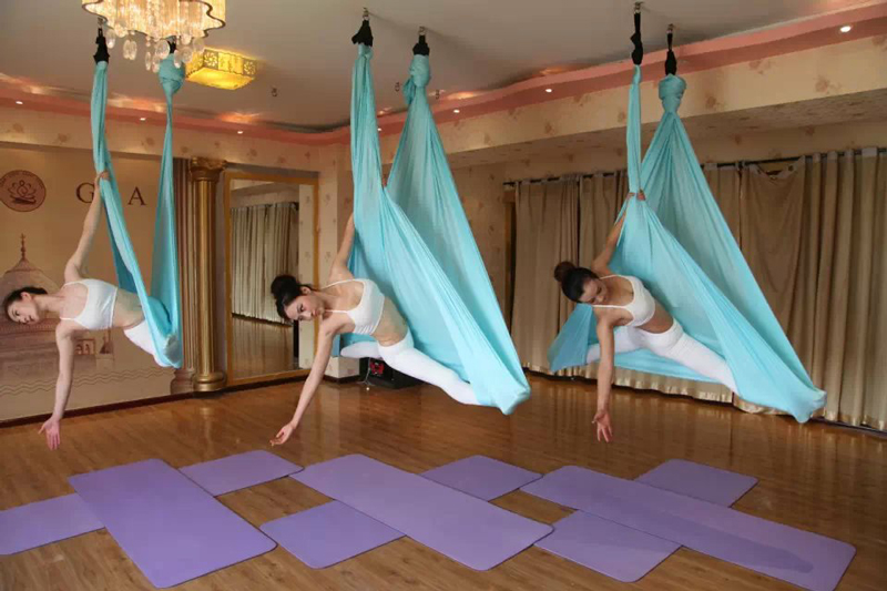 YONTREE 1 PC 5 Meters Elastic Aerial Yoga Hammock Anti-gravity Inversion Swing for Yoga Training aerial anti gravity yoga belt w elastic orange