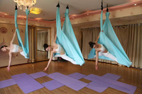 YONTREE 1 PC 5 Meters Elastic Aerial Yoga Hammock Anti Gravity Inversion Swing For Yoga Training