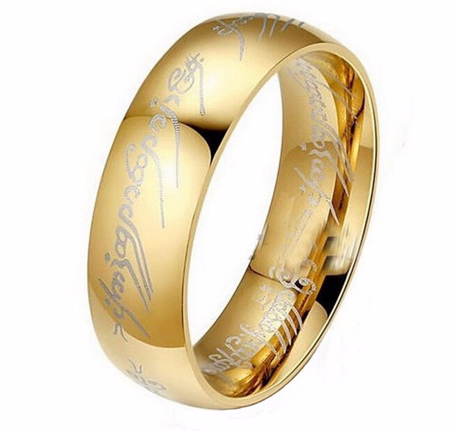 Midi Ring Tungsten One Ring of Power Gold the Movie of Ring Lvers Women and Men Fashion Jewelry Wholesale Free Drop ship