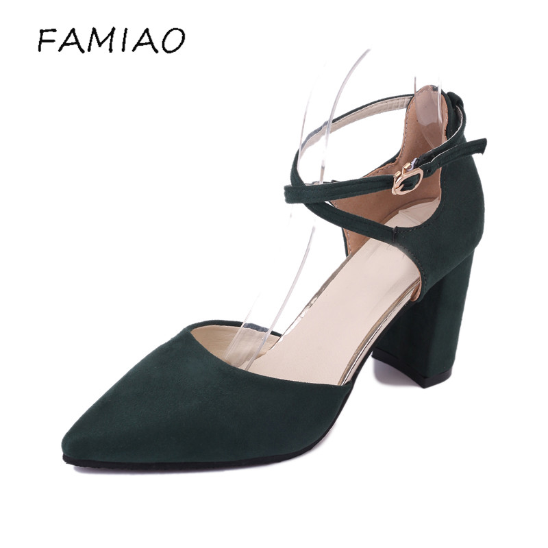 FAMIAO 2017 High Heels Women's pumps Spring Autumn Flock Shoes Woman Ladies Pumps Sexy Thin Air Heels Footwear Women Shoes siketu 2017 free shipping spring and autumn women shoes fashion sex high heels shoes red wedding shoes pumps g107