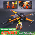 Nueva LEPIN 05004 Star Wars x-wing Fighter de Primer Orden Poe 79102 Compatible con STAR WARS Building Blocks juguete