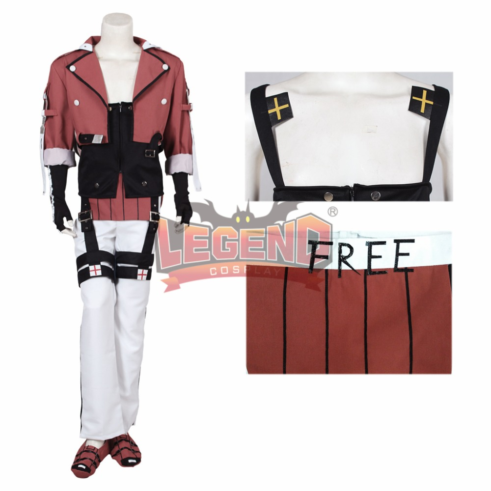Cosplay legend Guilty Gear Xrd Sol Badguy cosplay costume full set adult costume all size 2018 guilty gear xrd sign dizzy uniforms cosplay costume custom made
