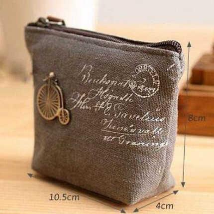 Mükemmel Kalite Vintage Klasik Kadın Erkek Tuval bozuk para cüzdanı Zip Cüzdan Küçük Mini Çanta Kılıfı kılıf tutucu Retro Para Çanta Hediye