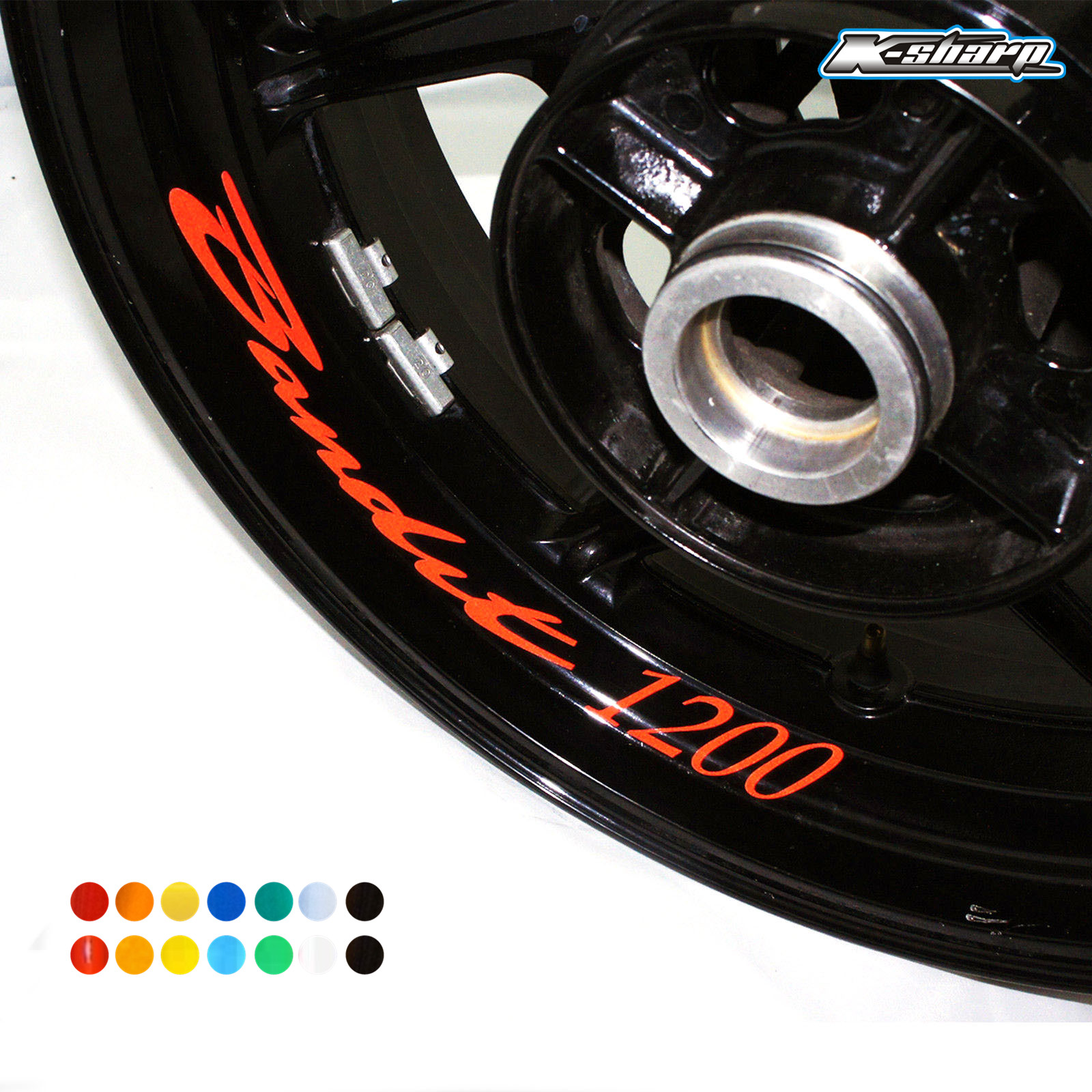 8 X Custon Inner Rim Decals Wheel Reflective Stickers Stripes FIT SUZUKI BANDIT 1200 BANDIT1200