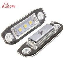 2x водить автомобиль Подсветка регистрационного номера 12 В белый SMD5050 номер led лампы пластины для Volvo S80 S60 c70 V70 E- отмечены