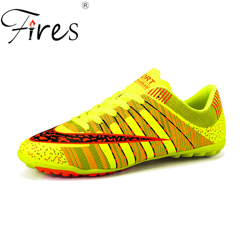 Fires Men's Football Shoes Indoor Turf Plus Size 45 Sports Sneakersl Soccer Shoes Sneakers Chaussure De Foot Football Boots
