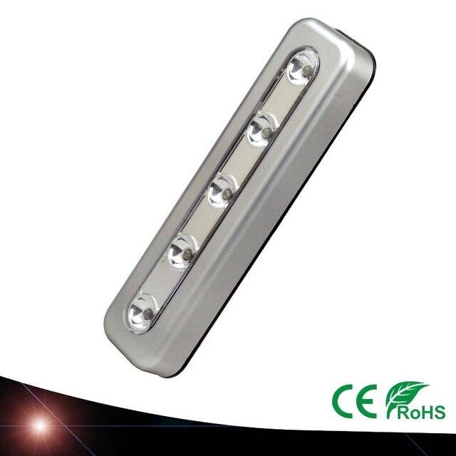 4x mini 5 led nachtlampje closet lamp draadloze muur licht batterij home verlichting voor onder keukenkastjes