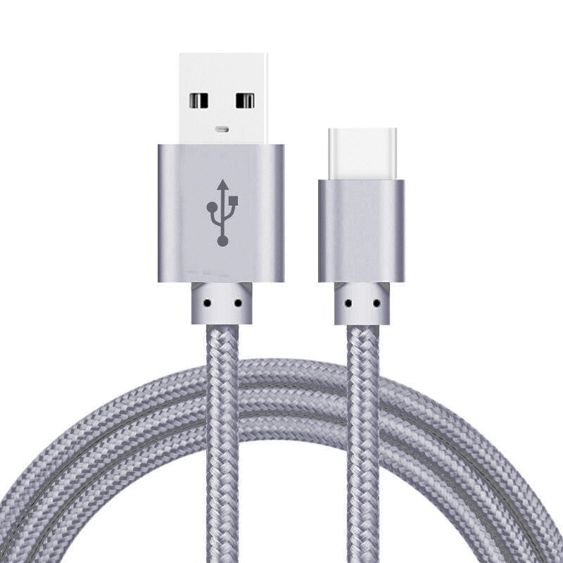 Type C USB Cable For Sumung Galaxy A3 A5 A7 2017 + Alloy 2A Fast 2-Port USB Car Charger Adapter For Huawei P9 P10 Xiaomi 5 5s 5c